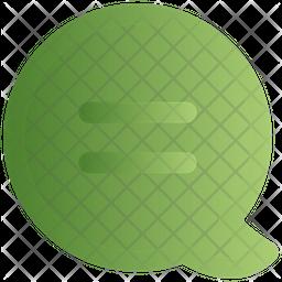 Speech Chat Gradient Icon