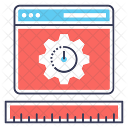 Speed Optimization Colored Outline Icon