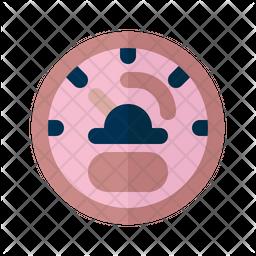 Speed Test Flat Icon