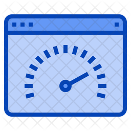 Speed Test Colored Outline Icon