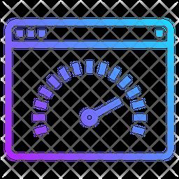 Speed Test Gradient Icon