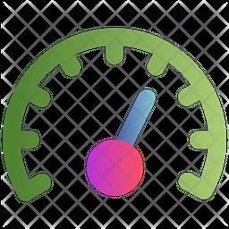 Speedometer Gradient Icon