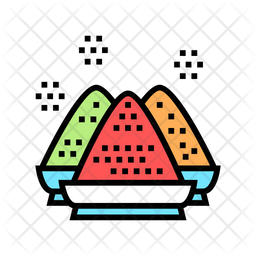Spice Bowl Colored Outline Icon