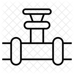 Spigot Valve Line Icon