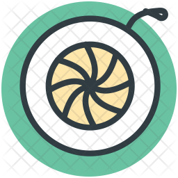 Spinning Colored Outline Icon
