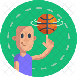 Spinning ball Flat Icon