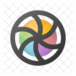 Spinning pinwheel Gradient Icon