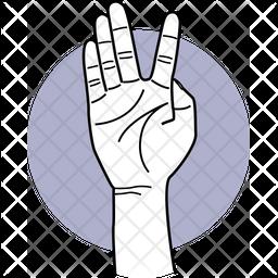 Split Fingers Dualtone Icon