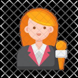 Spokesperson Female Icon