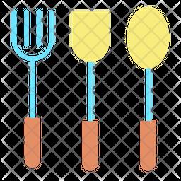 Spoons Flat Icon