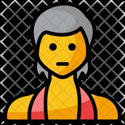 Sports girl Emoji Icon