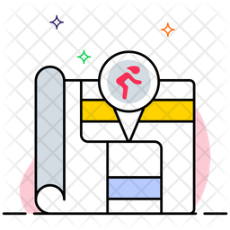 Sports location Colored Outline Icon