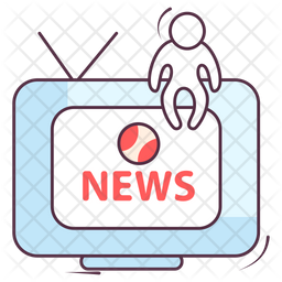 Sports News Colored Outline Icon