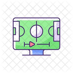 Sports streaming Colored Outline Icon