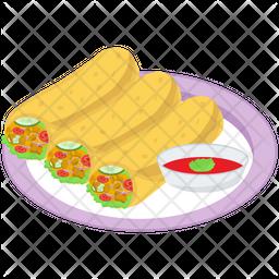 Spring Roll Platter Icon