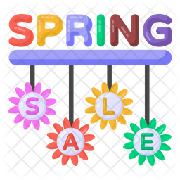 Spring Sale Labels Flat Icon