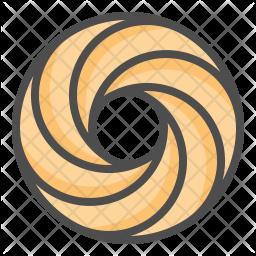 Spritz ring cookie Icon