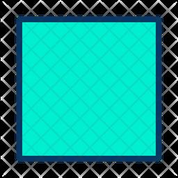 Square Colored Outline Icon
