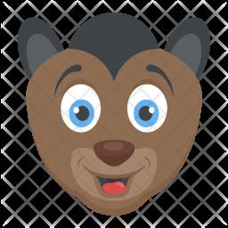 Squirrel Monkey Flat Icon