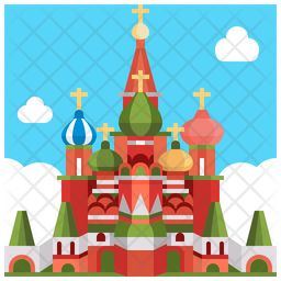 St Basils Cathedral On Red Square Icon