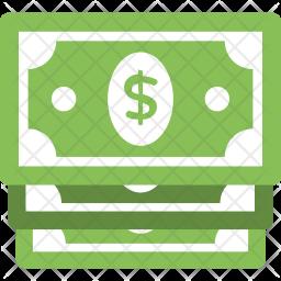 Stack of Dollar Bills Icon