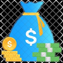 Stack of Money Flat Icon