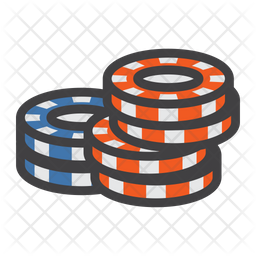 Stack Of Poker Chips Icon Of Colored Outline Style Available In Svg Png Eps Ai Icon Fonts