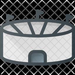 Stadium Colored Outline Icon