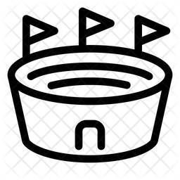 Stadium Line Icon