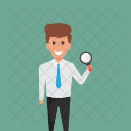 Staff Monitoring Flat Icon