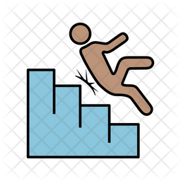 Stairs Accident Icon