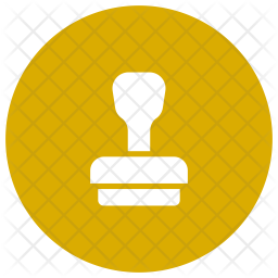 Stamp Glyph Icon