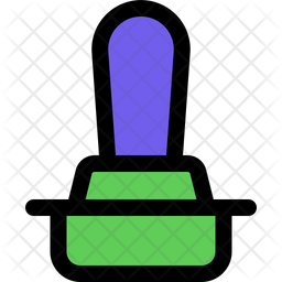 Stamp Colored Outline Icon