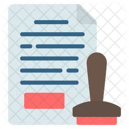 Stamp Document Icon