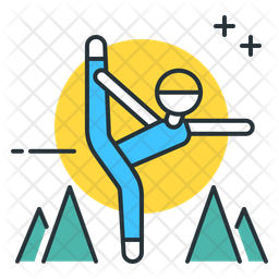 Standing Bow Pulling Pose Icon