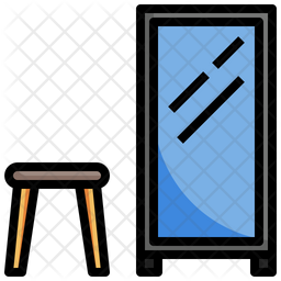 Standing Mirror Icon