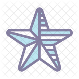 Star Colored Outline Icon