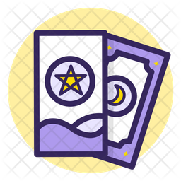 Star and Moon Cards Icon