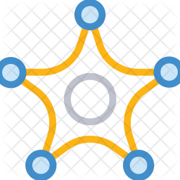 Star badge Colored Outline Icon