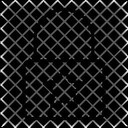 Star Lock Line Icon