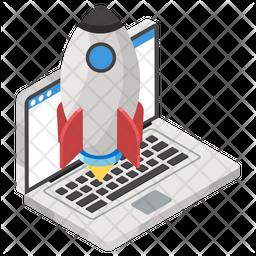 Startup Website Isometric Icon