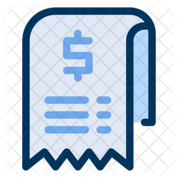 Statement Colored Outline Icon