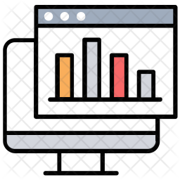 Statistical Analysis Colored Outline Icon
