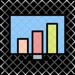 Stats, Data, Rank, Graph Icon