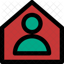 Stay Home Colored Outline Icon