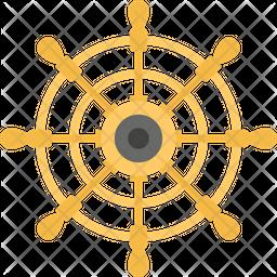 Steering Ship Wheel Icon