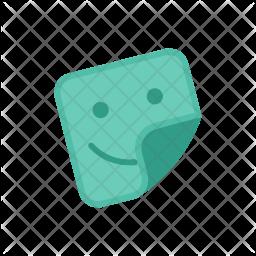 Sticker Colored Outline Icon