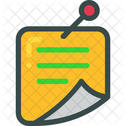 Sticky Note Icon Of Colored Outline Style Available In Svg Png Eps Ai Icon Fonts