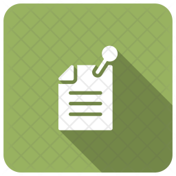Sticky Notes Glyph Icon