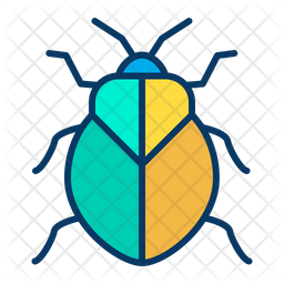 Stinkbug Colored Outline Icon
